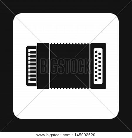Accordion icon in simple style isolated on white background. Musical instrument symbol