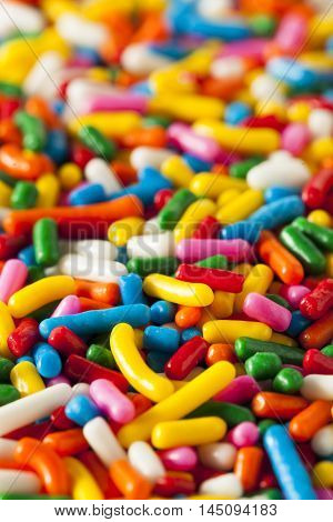 Bright Colored Rainbow Sprinkles