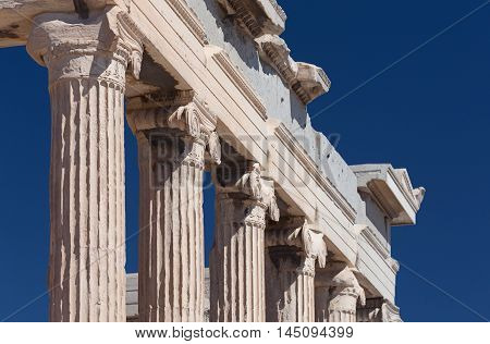 Ionic Columns Of Erechtheion