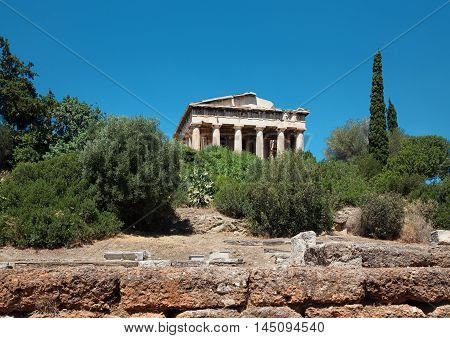 Temple of Hephaestus in Agora of Athens, Greece