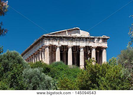 Temple of Hephaestus in Agora, Athens, Greece