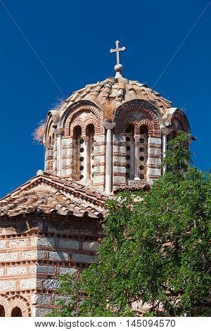 The church of the Holy Apostles (Holy Apostles of Solaki) in Ancient Agora of Athens Greece