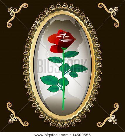 locket and rose