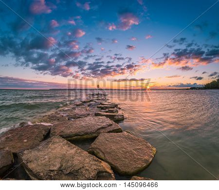 Sibbald Point Provincial Park, Ontario, Canada during sunrise