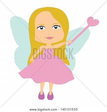 Fairy with a magic wand. vector Fairy