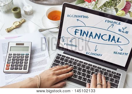 Financial Income Economic Diagram Money Concept