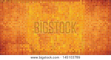 Orange abstract mosaic background - Illustration,  Mosaic grunge background,  Squares Of Light And Dark orange