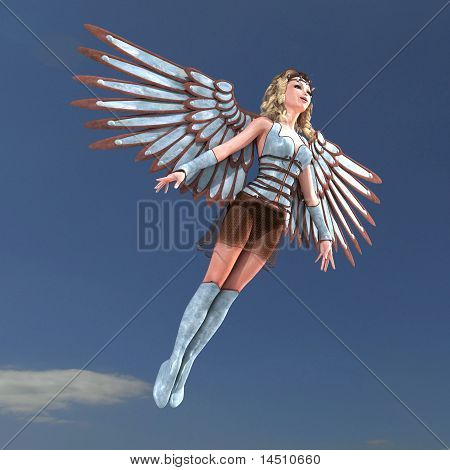 Female Fantasy Angel with huge wings
