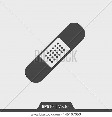 Adhesive Plaster Vector Icon For Web And Mobile