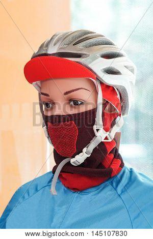 Cycling equipment - helmet, cap, and mask