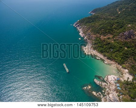 the beach with a bird's eye view on Koh Phangan
