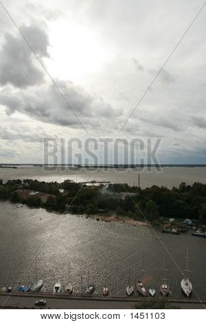 View From The Olaf'S Tower In Vyborg