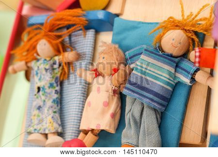 Wooden doll toys for kid / family toys