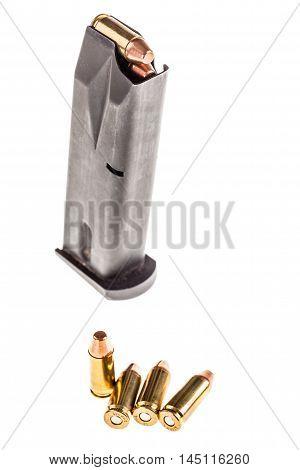 Handgun Magazine With Ammunitions