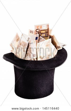 Top Hat Filled With Money
