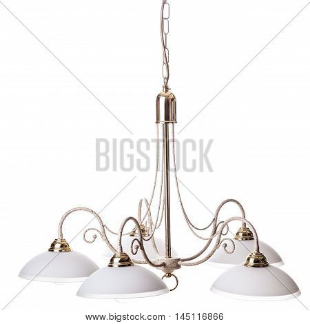 Old Chandelier On White
