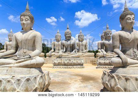 Buddha statue and blue sky Nakhon Si Thammarat Province Thailan