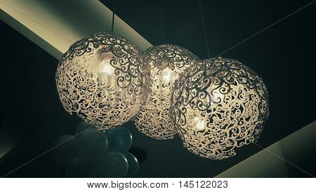Lighting lamp. Luxury lighting lamp decoration. Lighting lamp decoration