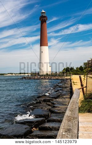 Barnegat Lighthouse in Long Beach Island, NJ