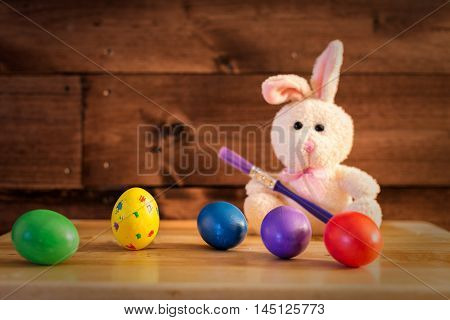 The Easter Bunny already painted the eggs