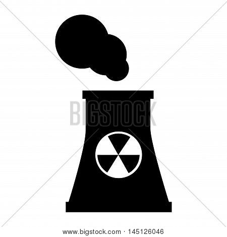 nuclear power plant platform isolated  vector illustration