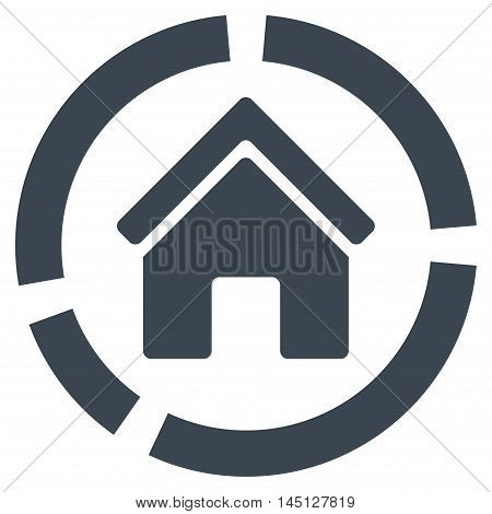 Realty Diagram icon. Vector style is flat iconic symbol, smooth blue color, white background.
