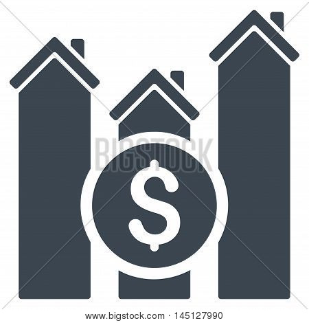 Realty Price Charts icon. Vector style is flat iconic symbol, smooth blue color, white background.