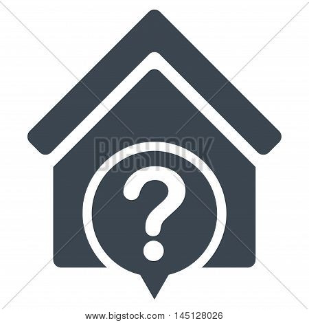 Realty State icon. Vector style is flat iconic symbol, smooth blue color, white background.