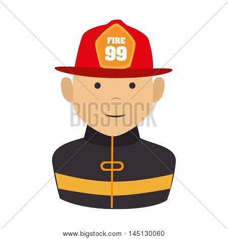 fireman equipement service emergency vector illustration eps 10