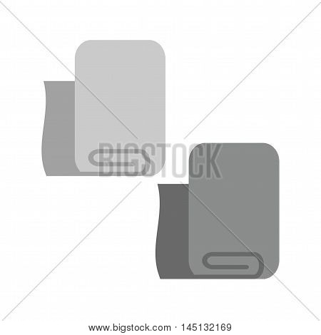 Napkin, folded, clean icon vector image. Can also be used for spa. Suitable for use on web apps, mobile apps and print media.