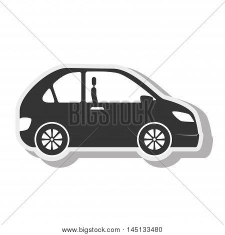car black coupe transport desing vector illustration eps 10