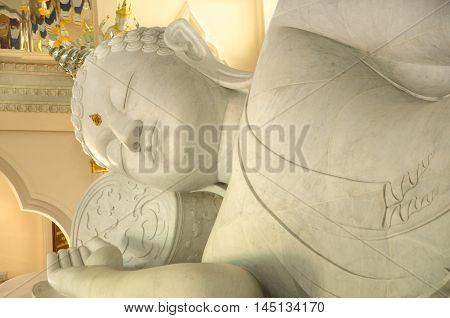 Big White Buddha  asian, back, big in Thailand