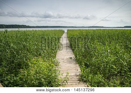 Walkway Leading To The Large Lake