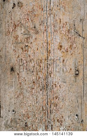 Aged wooden planks texture with signs of weathering