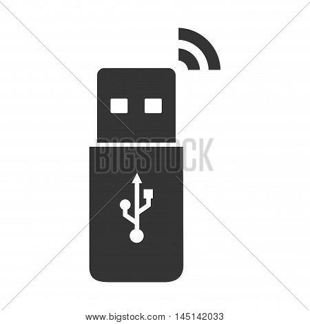 usb connected backup design vector illustration eps 10