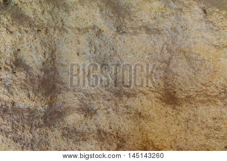 Textured limestone rock with erosion waves surface Provence France