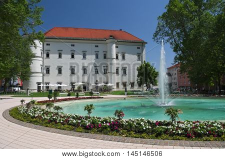 Castle of Porcia in the town of Spittal an der Drau, Carinthia, Austria