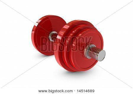 Red Dumbbell Weight