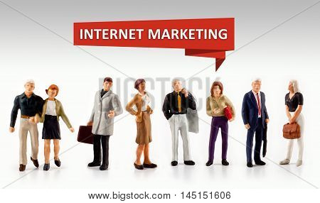 group of people - internet Marketing Commercial Media Consumer Customer Concept