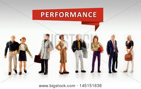 group of people - Performance word business concept