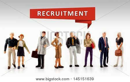 group of people - Recruitment Hiring Career Human Resources Concept