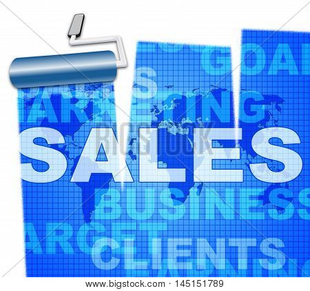 Business Sales Means Trade Selling And Commerce