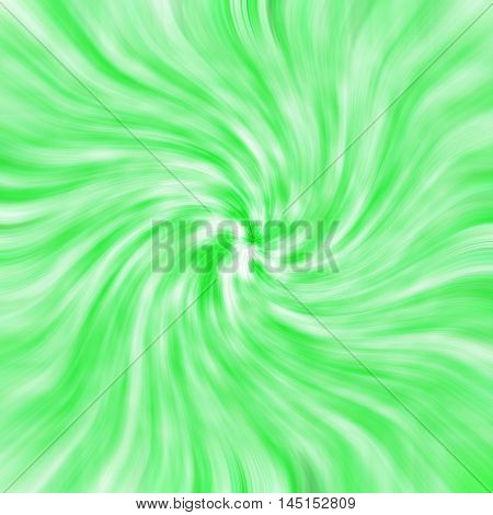 an images of Green-white background light twirl effect