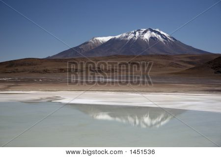 Lake And Mountain In Bolivia