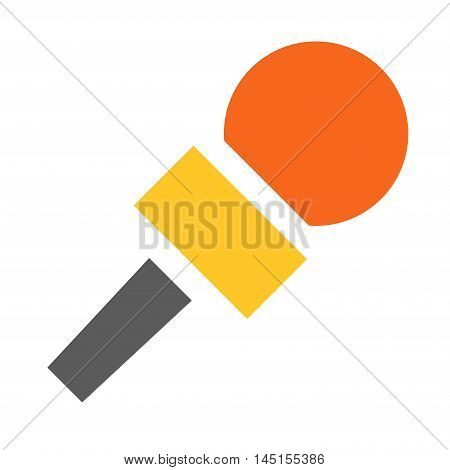 Microphone vector icon isolated on white.