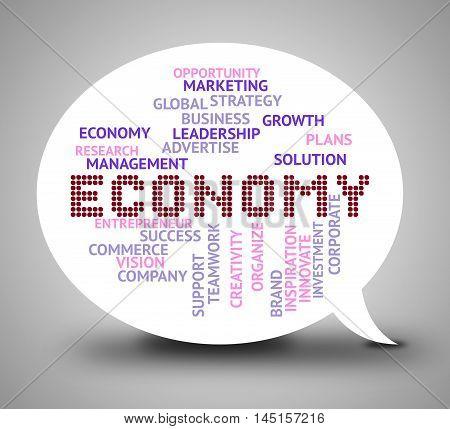 Economy Bubble Indicates Micro Economics And Finance