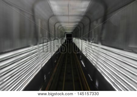train tunnel with motion Blur  Moving in Deep tunnel under : space for text and May You be used as background :