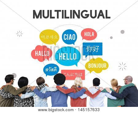 Communication Foreign Languages Greeting Worldwide Concept
