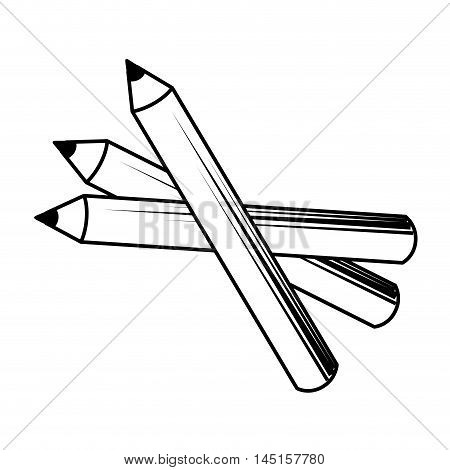 pencil make up design isolated vector illustration eps 10