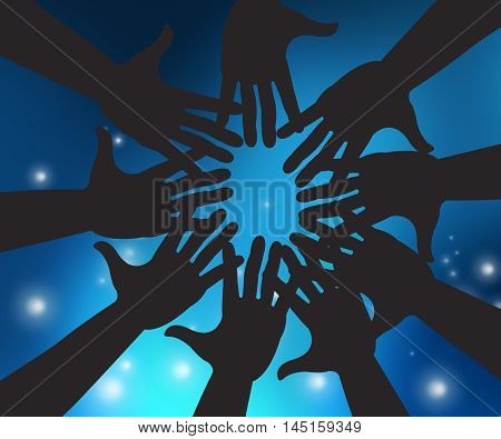 Hands In Sky Means Togetherness And Close Intimacy